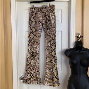 Cavalli Snake print Flare Jeans